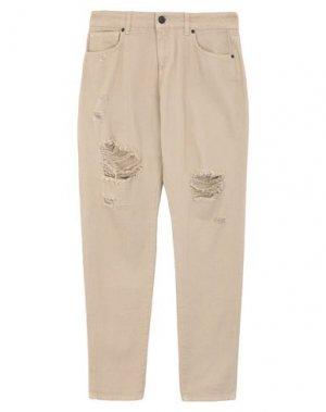 Джинсовые брюки UP ★ JEANS. Цвет: песочный