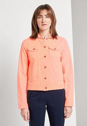 Куртка джинсовая Tom Tailor. Цвет: коралловый
