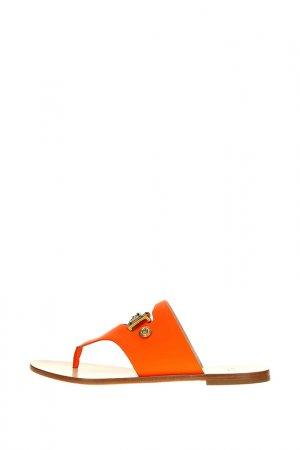 Сабо Versace. Цвет: оранжевый