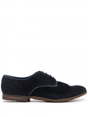 Туфли дерби со вставками Premiata. Цвет: синий