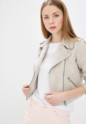 Куртка кожаная Q/S designed by. Цвет: серый