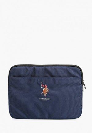 Чехол для ноутбука U.S. Polo Assn. 13, Computer Sleeve Double horse Navy. Цвет: синий