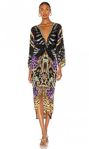 Платье миди Camilla. Цвет: черный