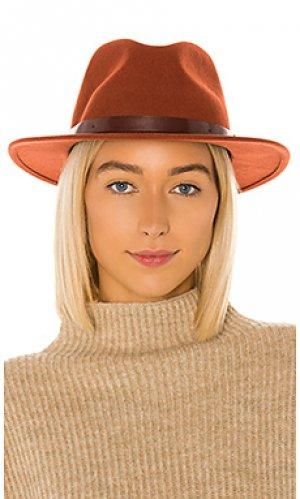 Шляпа федора messer Brixton. Цвет: ржавый