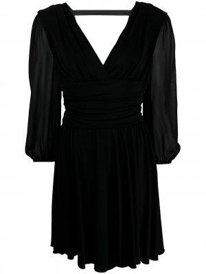 Платье мини со сборками на талии LIU JO. Цвет: черный