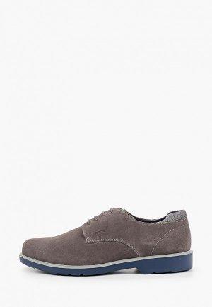 Туфли Geox. Цвет: серый