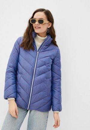 Куртка утепленная Снежная Королева JSS1OC07. Цвет: голубой