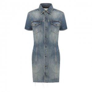 Джинсовое платье Saint Laurent. Цвет: синий