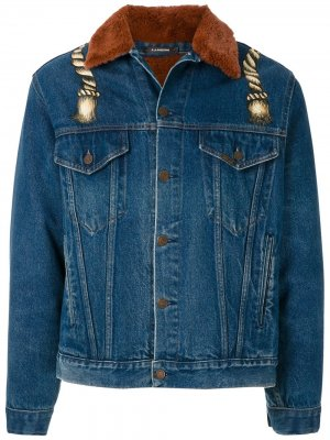 Кастомизируемая джинсовая куртка Upcycling Corda À La Garçonne. Цвет: синий