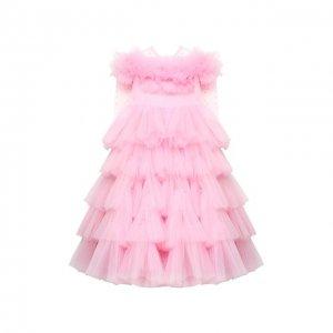 Платье Patricia Sasha Kim. Цвет: розовый