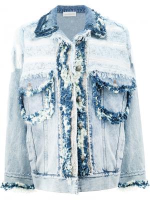 Frayed denim jacket Faith Connexion. Цвет: синий