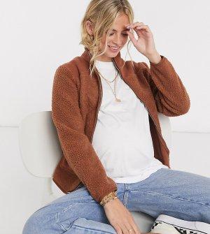 Шоколадная куртка из флиса для беременных -Коричневый Pieces Maternity