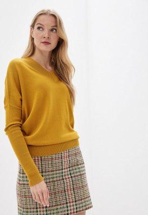 Пуловер MaryTes. Цвет: желтый