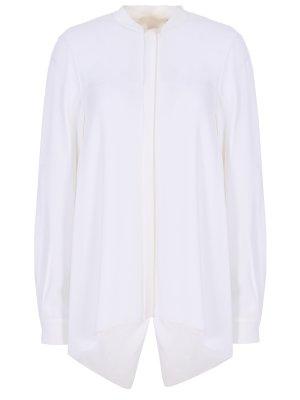 Блуза асимметричного кроя Antonio Berardi. Цвет: белый