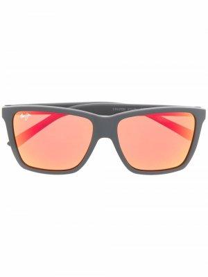 Солнцезащитные очки трапециевидной формы Maui Jim. Цвет: черный