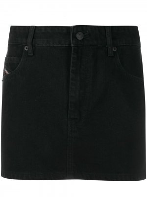 Джинсовая юбка мини Diesel. Цвет: черный