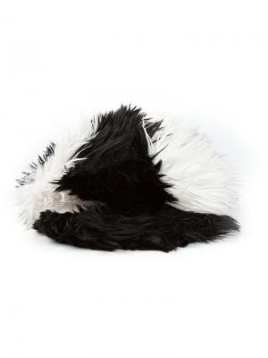 Меховая шапка Chanel Pre-Owned. Цвет: черный