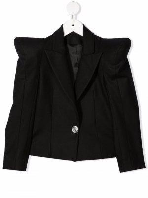 Пиджак с объемными плечами Balmain Kids. Цвет: черный