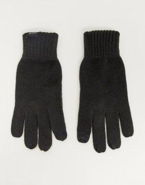 Перчатки для сенсорных экранов -Черный French Connection