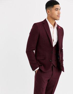 Приталенный пиджак с добавлением шерсти Winter Wedding-Красный Gianni Feraud