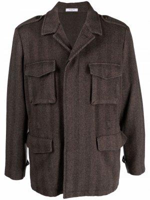 Fitted shirt jacket Boglioli. Цвет: коричневый