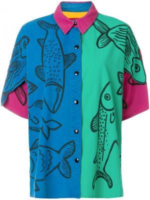 Рубашка с принтом JC de Castelbajac Pre-Owned. Цвет: разноцветный
