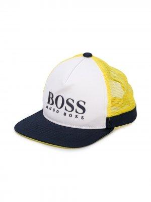 Кепка с логотипом Boss Kids. Цвет: желтый