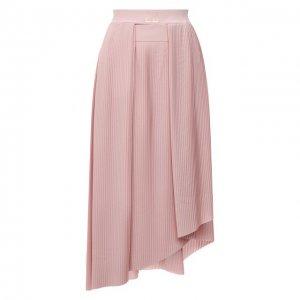 Плиссированная юбка Givenchy. Цвет: розовый