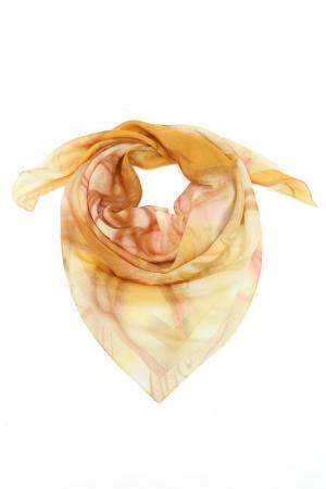 Платок F.FRANTELLI. Цвет: розовый, желтый, песочный