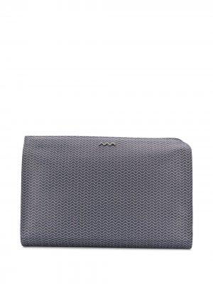 Декорированная сумка для ноутбука с логотипом Zanellato. Цвет: синий