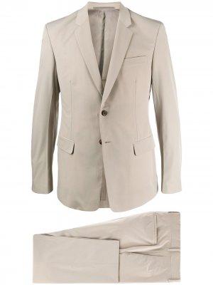 Костюм-двойка с однобортным пиджаком Prada. Цвет: нейтральные цвета