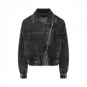 Джинсовая куртка J Brand. Цвет: серый