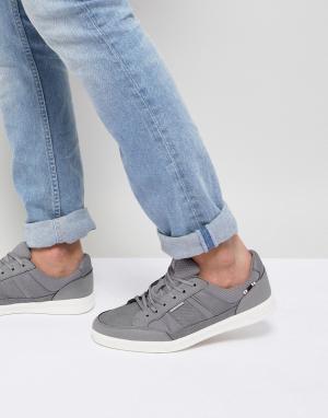 Кроссовки со вставками Jack & Jones. Цвет: серый