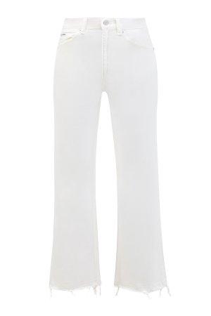 Расклешенные джинсы с эффектом необработанного края POLO RALPH LAUREN. Цвет: белый