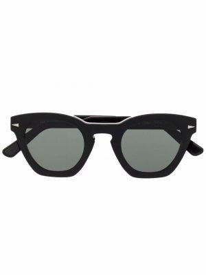 Солнцезащитные очки в круглой оправе Ahlem. Цвет: черный