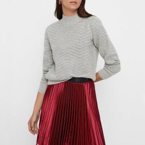Пуловер с воротником-стойкой из тонкого трикотажа YAS. Цвет: зеленый лесной