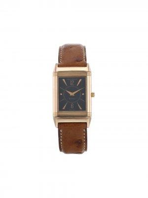 Наручные часы Reverso pre-owned 23 мм 2000-х годов Jaeger-LeCoultre. Цвет: черный
