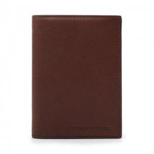 Кожаная обложка для паспорта Brunello Cucinelli. Цвет: коричневый