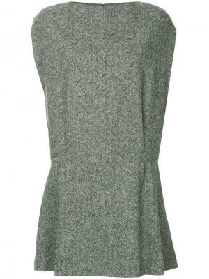 Короткое твидовое платье Lanvin. Цвет: серый