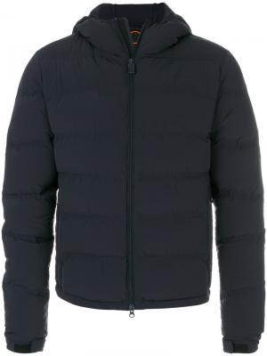 Стеганое пальто Aspesi. Цвет: синий