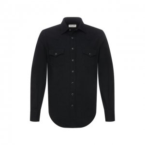Джинсовая рубашка Saint Laurent. Цвет: чёрный