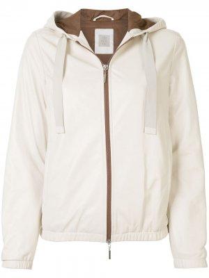 Куртка с капюшоном Eleventy. Цвет: белый