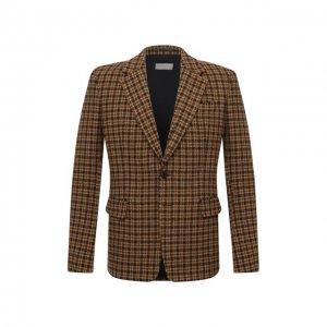 Шерстяной пиджак Dries Van Noten. Цвет: коричневый