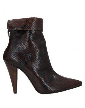 Полусапоги и высокие ботинки ÂME. Цвет: темно-коричневый
