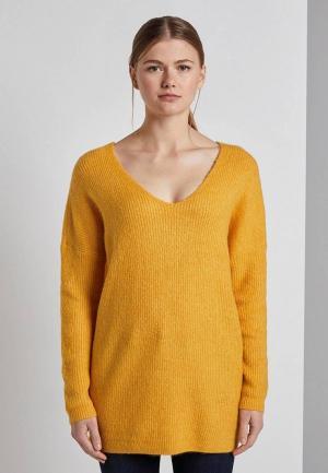 Пуловер Tom Tailor Denim. Цвет: желтый