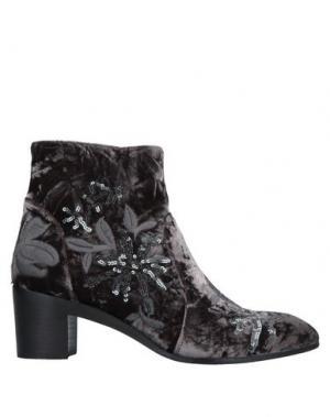 Полусапоги и высокие ботинки ALEXANDER HOTTO. Цвет: свинцово-серый