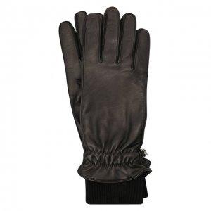 Кожаные перчатки Dsquared2. Цвет: чёрный