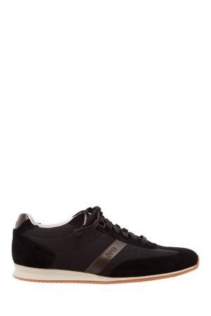 Черные кроссовки Boss Orange. Цвет: черный