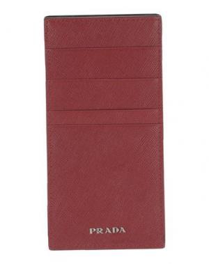 Чехол для документов PRADA. Цвет: красный