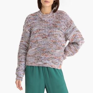 Пуловер с круглым вырезом из плотного трикотажа NURIA SAMSOE AND. Цвет: разноцветный